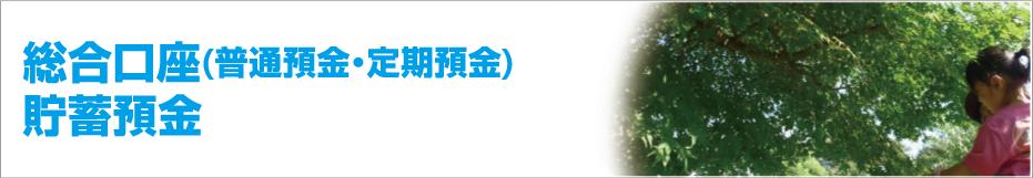 総合口座(普通預金・定期預金)貯蓄預金